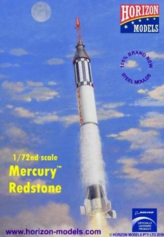 1/72 Mercury Spacecraft w/Redstone Booster