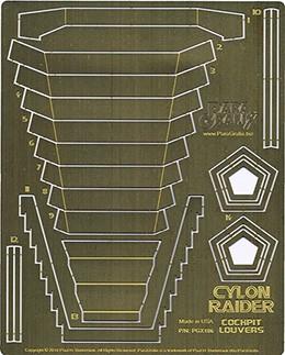 1/32 Cylon Raider Cockpit Louvers (for Moebius)