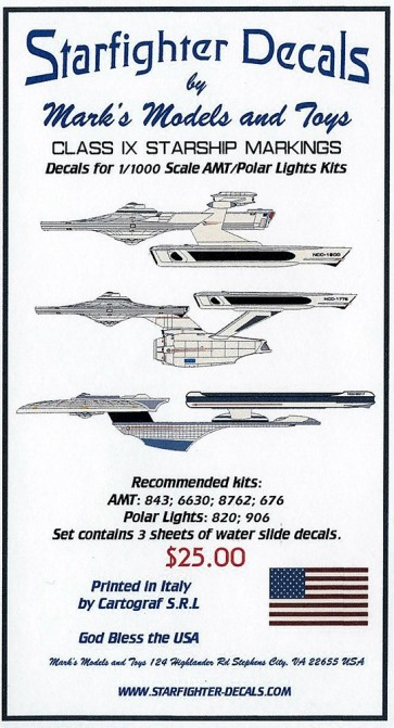 1/1000 Class IX Starship Markings (Movie Era)