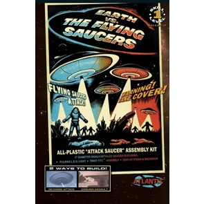 Earth vs The Flying Saucers: Attack Saucer (Silver & Lighted Edition)