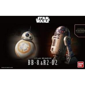 1/12 Star Wars: BB8 & R2D2 Droid Figures (2 Kits)
