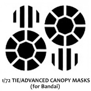 1/72 TIE/ Advanced Canopy Masks (for Bandai)