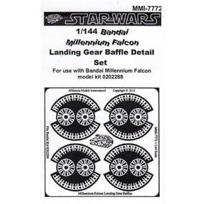 1/144 Millennium Falcon PE Landing Baffles for BANDAI