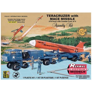 1/32 Teracruzer Flatbed Towing Vehicle w/Mace Missile (SSP)