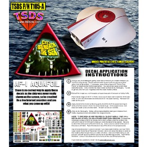 1/32 AQUAFOIL Decals for Moebius Flying Sub